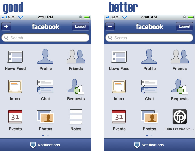 New Facebook App for iPhone
