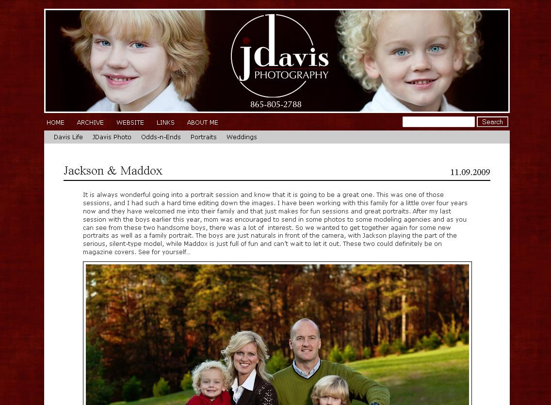 Jason Davis Blog Redesign