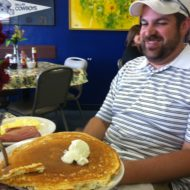Justin Eating Huge Pancakes