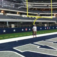 Justin in the End Zone