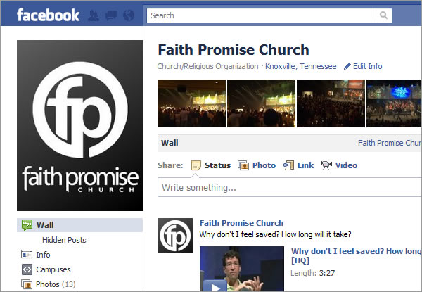 Five Facebook Tips for Your Church or Organization