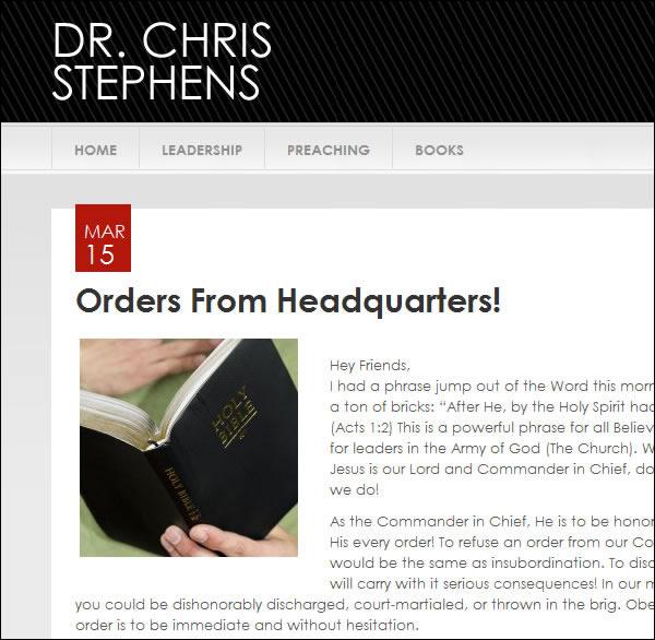 Blog Design Update for Pastor Chris