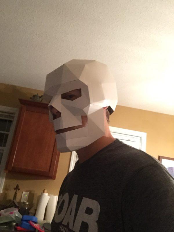 Skull-head selfie.